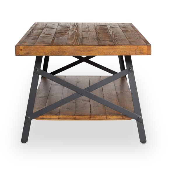 Magnificent Shop Carbon Loft Oliver Modern Rustic Natural Fir Coffee Gmtry Best Dining Table And Chair Ideas Images Gmtryco