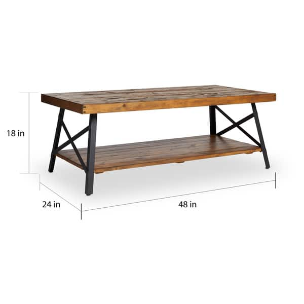 Rustic Natural Fir Coffee Table