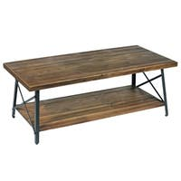 Carbon Loft Oliver Rustic Reclaimed Wood Coffee Table