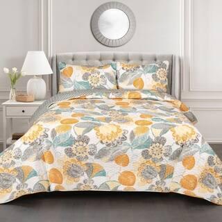 The Curated Nomad La Boheme 3-piece Floral Quilt Set