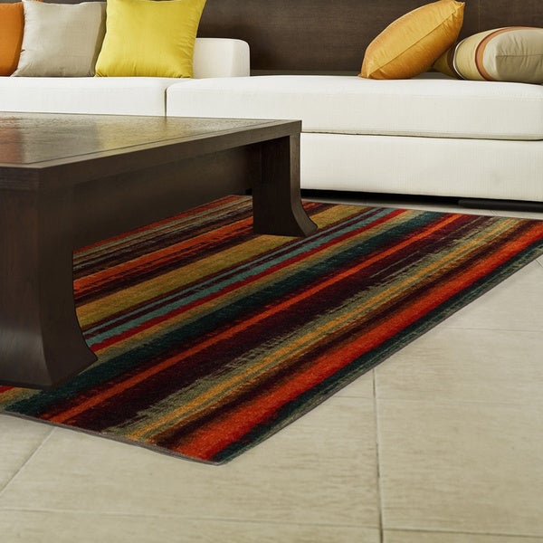 The Curated Nomad Shrader Striped Area Rug - 5' x 8'