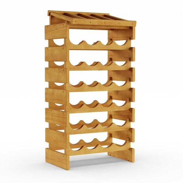 Copper Grove Arapaho 28-bottle Stackable Wood Wine Rack with Display Top
