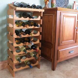 Copper Grove Arapaho 28-bottle Stackable Wood Wine Rack