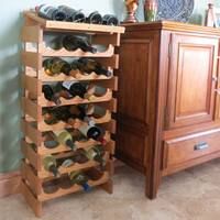 Pine Canopy Arapaho 28-bottle Stackable Wood Wine Rack