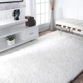 Link to Silver Orchid Rita Handmade Solid Soft Plush Shag Rug Similar Items in Rustic Rugs