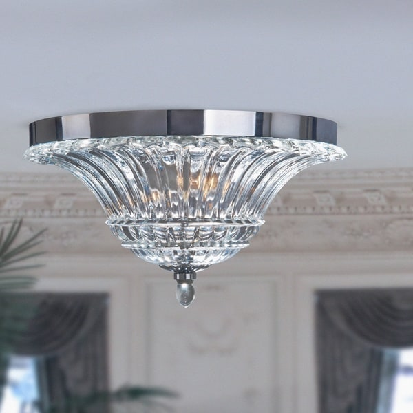 Silver Orchid Bergman Glam 2-light Clear Glass Chrome Ceiling Light. Opens flyout.