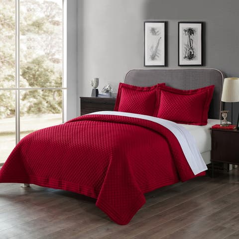 Porch & Den Clarita Microfiber Water and Stain Resistant Quilt or Shams