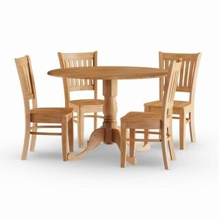 Pine Canopy Siuslaw Oak 5-piece Dining Set