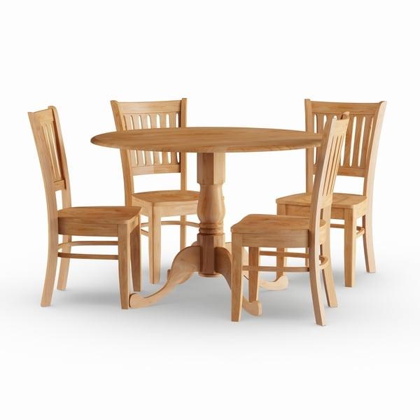 Copper Grove Siuslaw Oak 5-piece Dining Set