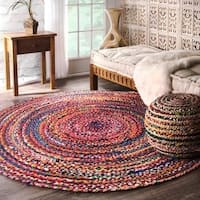 The Curated Nomad Grove Handmade Braided Multicolor Area Rug - 6'