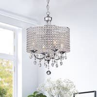 Carina 4-Light Chrome Finish Crystal Chandelier
