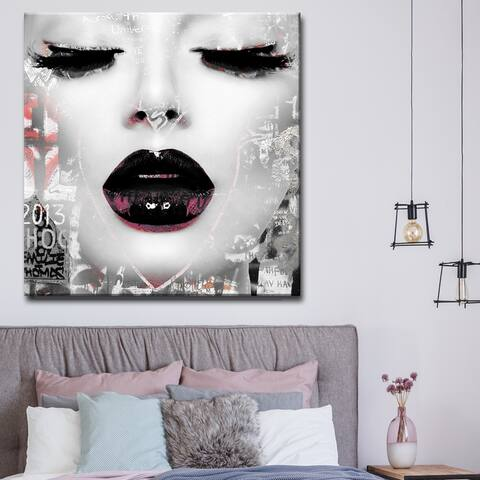Silver Orchid Welles Urban Fashion Canvas Art - Black/Grey