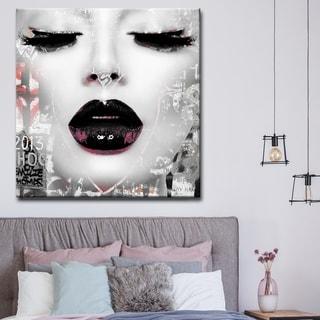Silver Orchid Welles Urban Fashion Canvas Art - Black/Grey