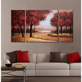 Pine Canopy Gunnison Hand-painted 3-piece Gallery-wrapped Canvas Art Set