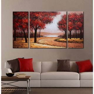 Copper Grove Gunnison Hand-painted Gallery-wrapped Canvas Art Set