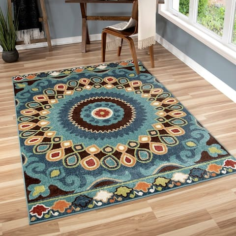 The Curated Nomad Pacheco Indoor/ Outdoor Retro Area Rug