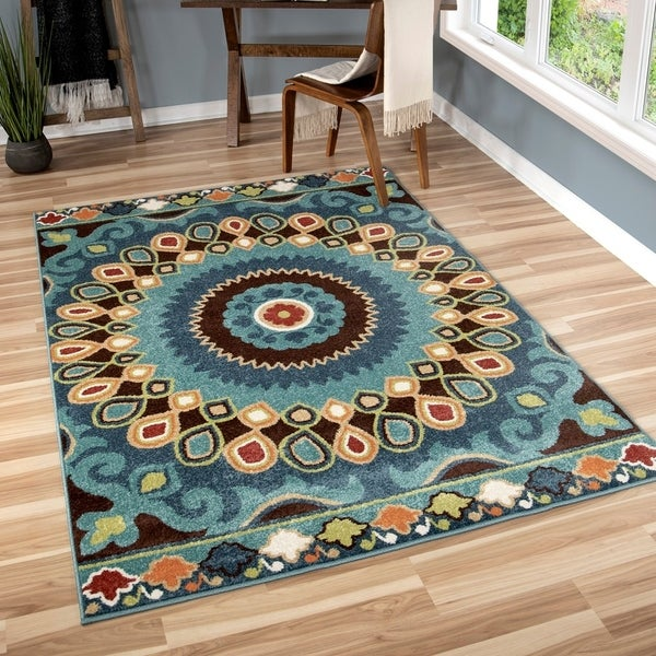 The Curated Nomad Pacheco Indoor/ Outdoor Retro Area Rug - 5'2 x 7'6