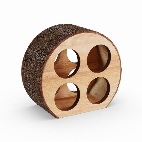 Carbon Loft George Round 4-bottle Wine Holder