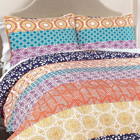 The Curated Nomad La Boheme 3-piece Boho Quilt Set