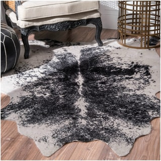 Carbon Loft van Leeuwenhoek Faux Cowhide Contemporary Area Rug