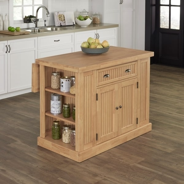 Shop Pine Canopy Sabine Natural Butcher Block Top Kitchen Island - On Sale - Free Shipping Today ...