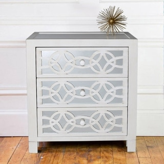 Silver Orchid Fonda 3-drawer Mirror Chest