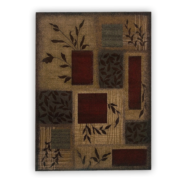 Copper Grove Custer Indoor Green Abstract Area Rug - 5' x 7'6