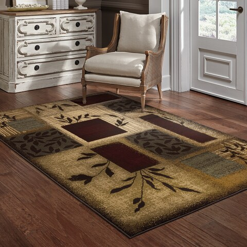 """Copper Grove Custer Indoor Green Abstract Area Rug - 5' x 7'6"""""""