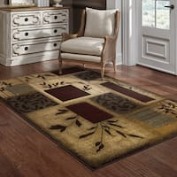 Clay Alder Home Percha Indoor Green Abstract Area Rug - 5' x 7'6