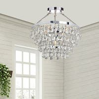 Clay Alder Home Jericho Designer 5-light Chrome Semi Flushmount Chandelier