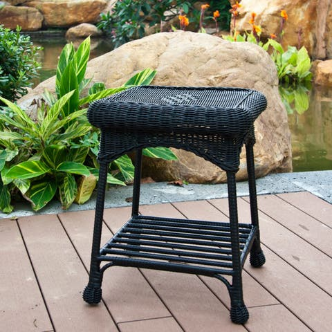 Sadie Outdoor Wicker Patio End Table by Havenside Home