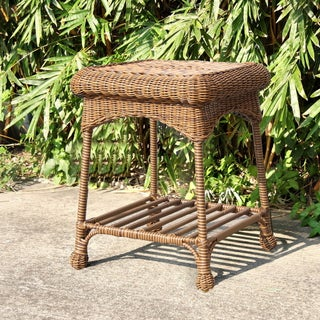 Clay Alder Home Carquinez Outdoor Wicker Patio End Table