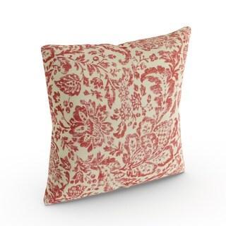 Copper Grove Aquilegia Red/ Tan Damask Throw Pillow