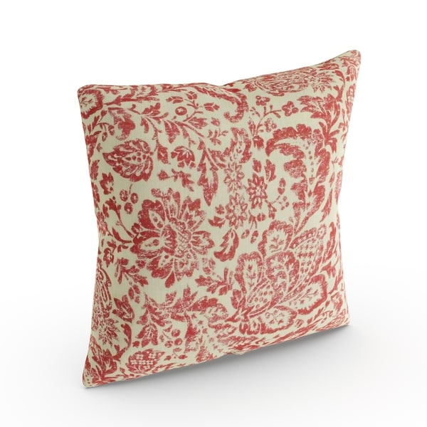 Copper Grove Aquilegia Red/ Tan Damask Throw Pillow