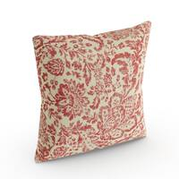Havenside Home Waveland Red/ Tan Damask Throw Pillow