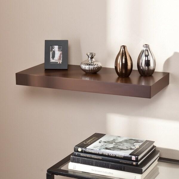 Porch & Den Sorlie Tampa 24-inch Espresso Floating Shelf