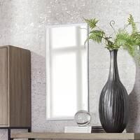 Clay Alder Home Steel Frameless Beveled Rectangular Mirror