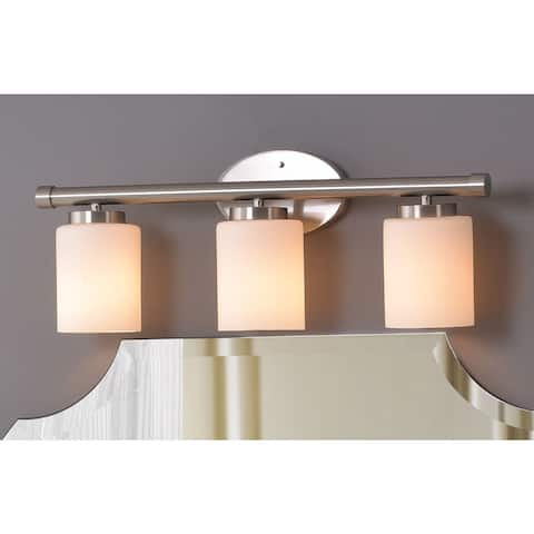 Strick & Bolton Moulin 3-light Frosted Glass Vanity Fixture