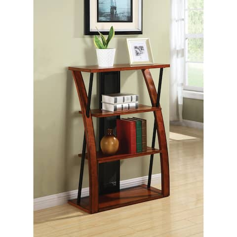 Copper Grove Mandevilla Aurora Medium Oak Finish 3-shelf Bookcase