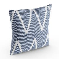 The Curated Nomad Grodin Navy 18-inch Throw Pillow