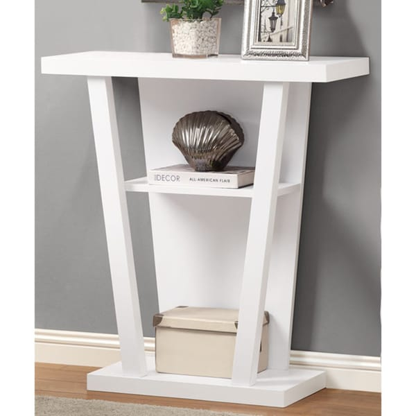 Porch & Den Hardebeck White 32-inch Console Accent Table