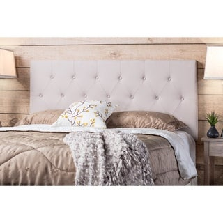 Jazari Modern Ivory Adjustable-Mountin Upholstered Headboard by FOA
