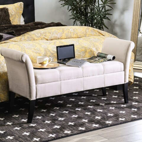 The Gray Barn Alroy Downs Fabric Storage Accent Bench