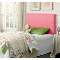 Furniture of America - PINK Leatherette Conversion Headboard