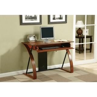 Copper Grove Mandevilla Classic Oak Wood Desk with Keyboard Tray