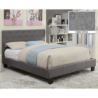 Link to Porch & Den University Sutton Tufted Linen Platform Bed Similar Items in Bedroom Furniture