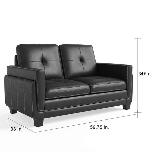 Remarkable Shop Porch Den Newcastle 2 Piece Tufted Black Leatherette Gamerscity Chair Design For Home Gamerscityorg