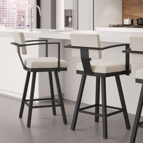 Strick & Bolton Hudson 30-inch Bar Stool Swivel Metal
