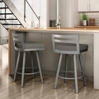 Clay Alder Home 30-inch High Bridge Bar Stool Swivel Metal