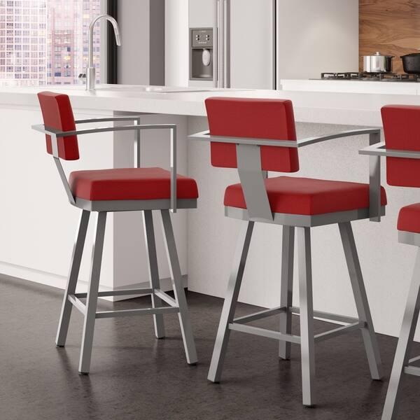 Groovy Shop Amisco Akers Counter Swivel Metal Stool 26 Inch Free Creativecarmelina Interior Chair Design Creativecarmelinacom